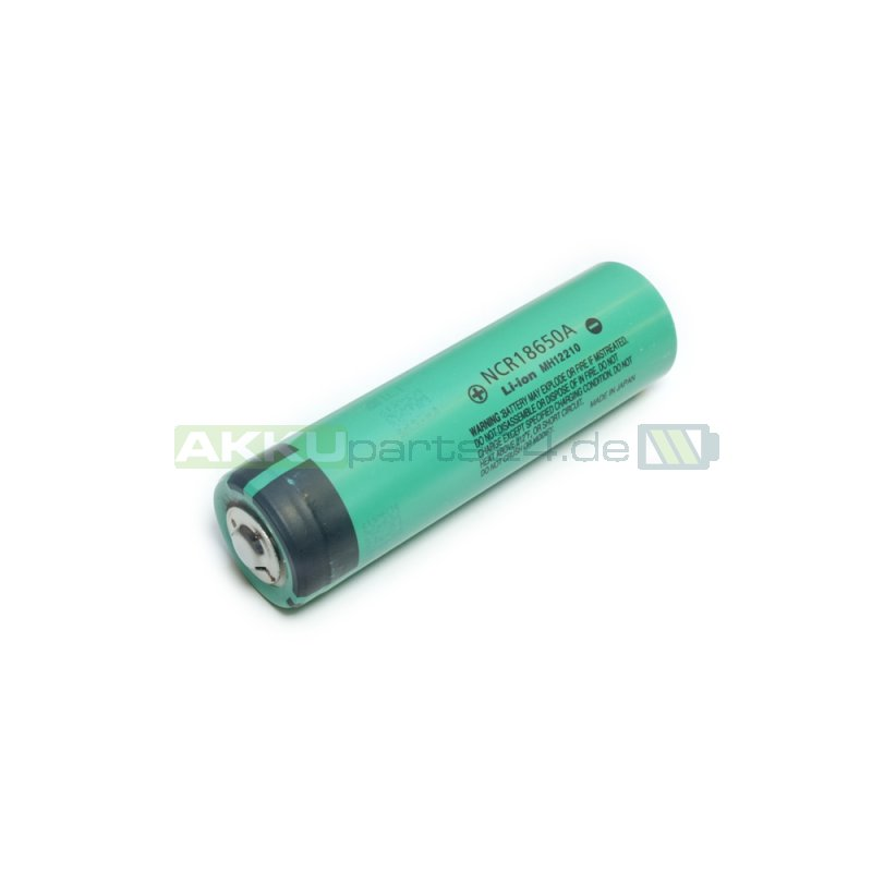 Panasonic NCR18650A 3,6V 3100 mAh Li-Ion-Zelle Button Top 2er-Pack