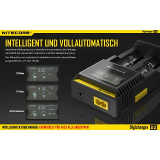 NiteCore Digicharger D2 EU